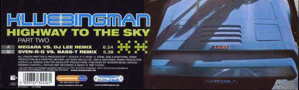 KLUBBINGMAN - Highway To The Sky (Part Two) - Maxi 45T