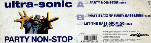 ULTRA-SONIC - Party Non-Stop - Maxi 45T