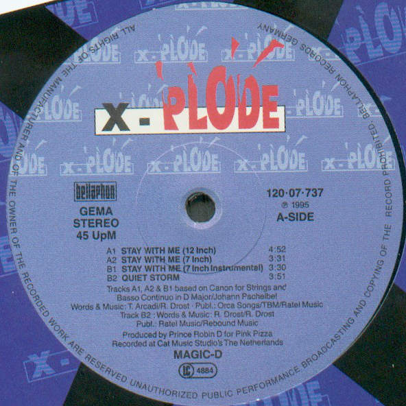 MAGIC D - Stay With Me - Maxi 45T