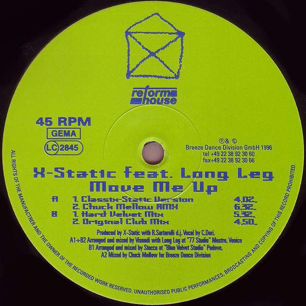 X-STATIC - Move Me Up - Maxi 45T