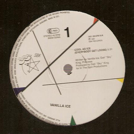 VANILLA ICE - Cool As Ice (Everybody Get Loose) - Maxi 45T