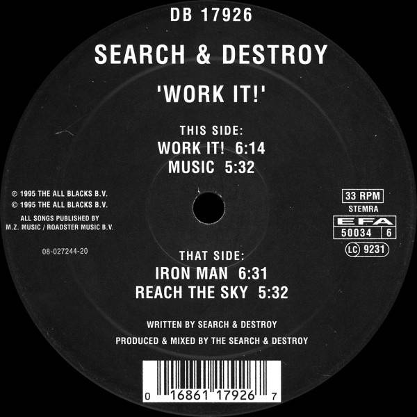 SEARCH & DESTROY - Work It! - Maxi 45T
