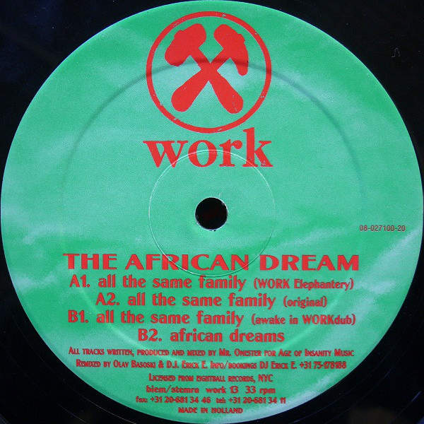 THE AFRICAN DREAM - All The Same Family - 12 inch 45 rpm