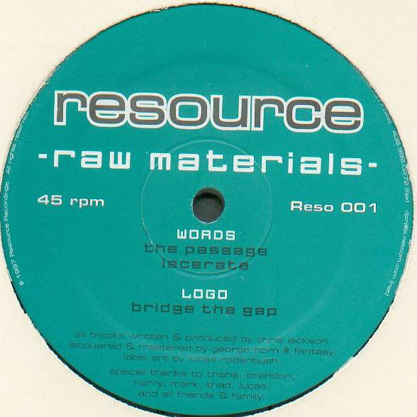 Resource Raw Materials Vol. 1