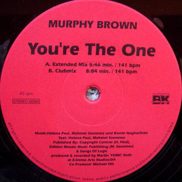 MURPHY BROWN - You're The One - Maxi 45T