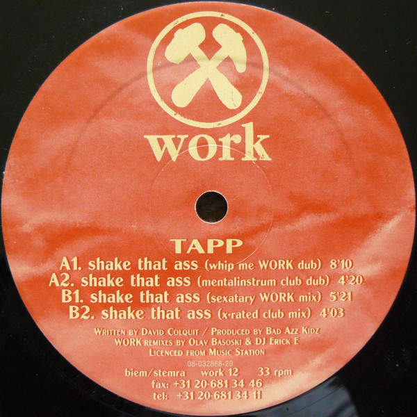 TAPP - Shake That Ass - 12 inch 45 rpm