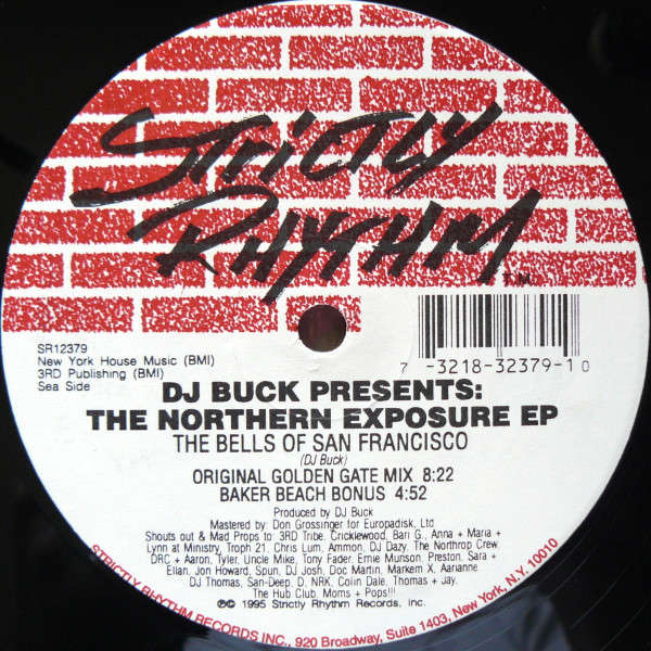 DJ BUCK - The Northern Exposure EP - ''The Bells Of San Francisco'' - Maxi 45T