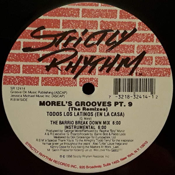 GEORGE MOREL - Morel's Grooves Part 9 - The Remixes - Maxi 45T