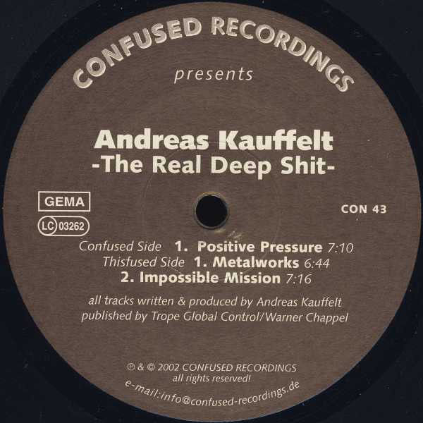 ANDREAS KAUFFELT - The Real Deep Shit - Maxi 45T