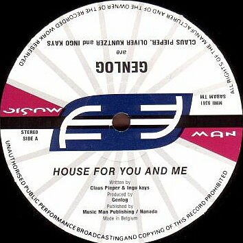 GENLOG - House For You And Me - 12 inch 45 rpm